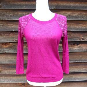 Express Embellished Knit Top